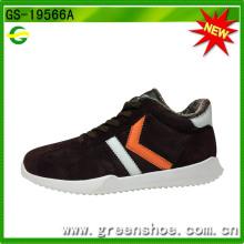 Zapatos modificados para requisitos particulares de los deportes de invierno de los hombres de la piel falsa cómodos modificados para requisitos particulares