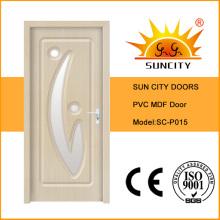 PVC-Oberflächen-Innen-MDF-Holztüren