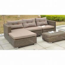 Patio Garden Outdoor Wicker Furniture Rattan Lounge Sofa Set