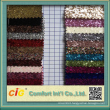 Decoration Use Glitter Material Fabric Shiny Synthetic Leather