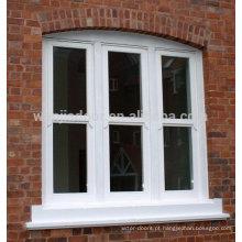 PVC de alta qualidade vidros duplos design de grelha de janela fixa