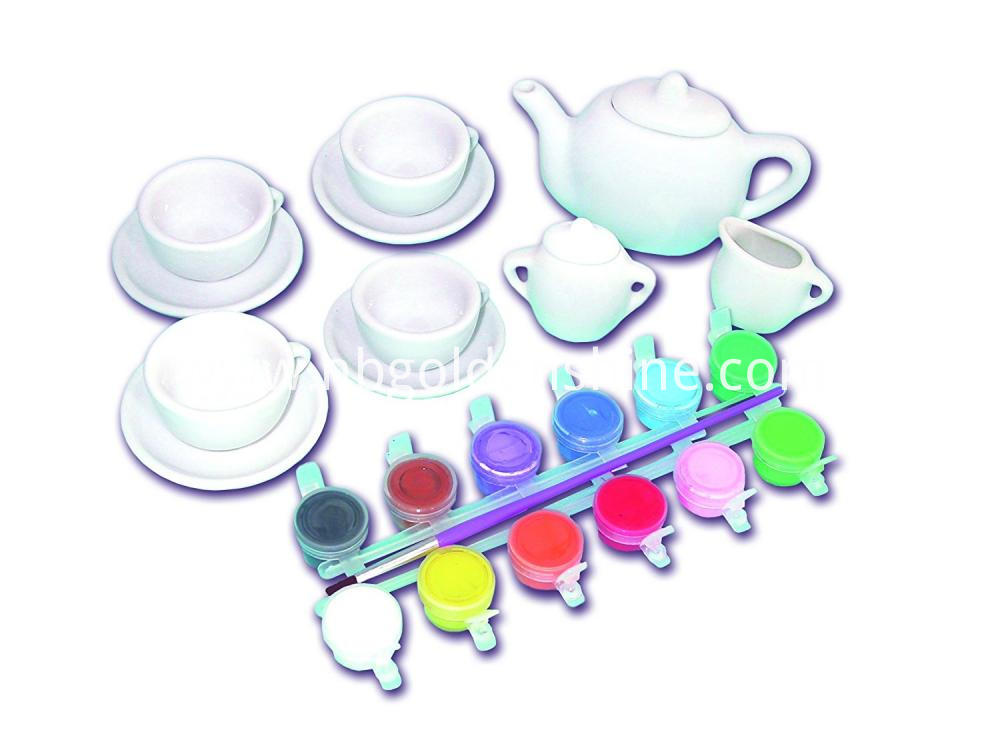 Color Your Own Mini Tea Set