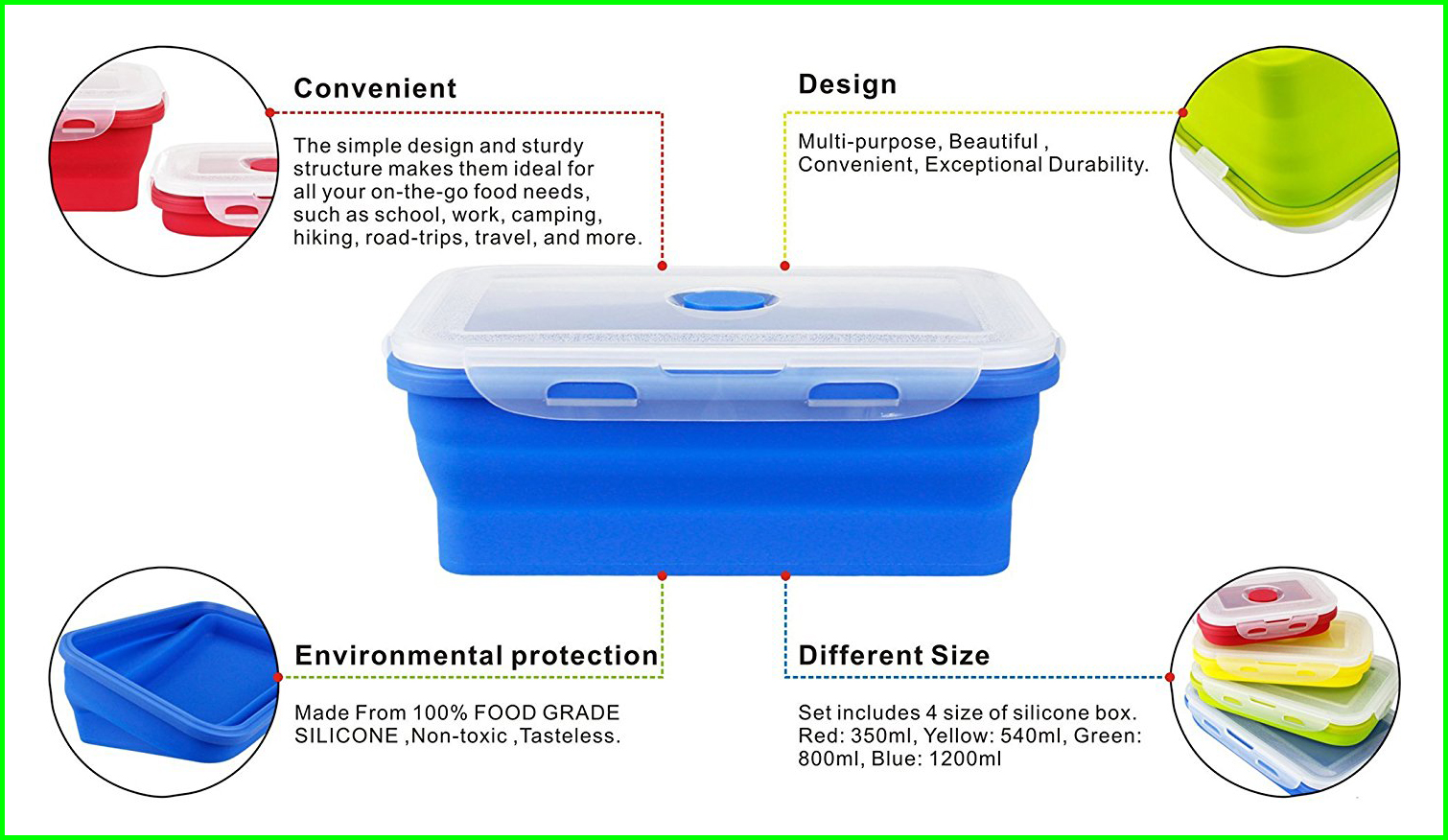 Silicone Food Storage Container