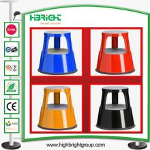 Tabouret mobile en acier résistant de Kick d'entrepôt de couleurs différentes