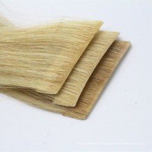 New Product Human Hair Virgin Hair Invisible Hand Inserted Hand Made 100% Human Virgin Brazilian Straight Hair Strip Tape Hair Extension Remy Hair