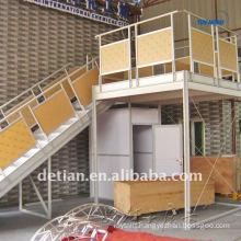 portable trade show display double deck exhibition design