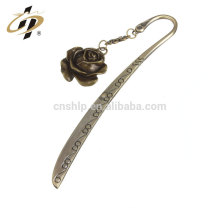 Wholesale cheap custom antique rose laser engraving bookmark with logo for books