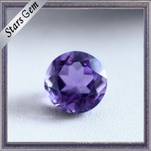 Round Beautiful Natural Cut Amethyst Semi Precious Stone