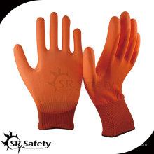SRSAFETY 13 меховых перчаток с покрытием из нейлона с оранжевым нейлоновым покрытием