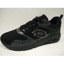Schwarze Strick-flache Schuhe Schock-Absorb-Schuhe