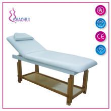 Lit de massage en bois pour salon de beauté