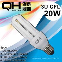 Ahorro de luz de bombilla de ahorro de energía eléctrica de hierro