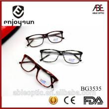 Haute qualité 2015 MULTI coloré design de mode acétate faits à la main lunettes lunettes optiques lunettes lunettes