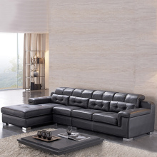 Lounge Kulit Coklat 2-Piece Sectional Sleeper Sofa