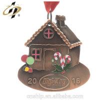 Medallas de encargo al por mayor de la casa del metal del esmalte de la aleación del cobre 3D al por mayor