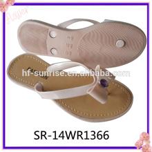 Neueste Fashion Flower Pcu Flip Flops Slipper Schuh Frauen