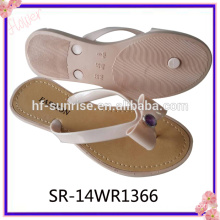 Latest Fashion Flower Pcu Flip Flops Slipper Shoe Women