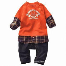 Long-sleeved Babies' Rompers, Made of 100% Cotton, Suitable for 6 to 24 Months Old