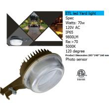 70w fotocélula llevó la luz del jardín con IP65 a prueba de agua