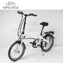 Nuevo diseño Mini plegable bicicleta eléctrica 20 pulgadas 250 W 36V plegable ebike china