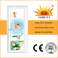 2016 neue spezielle Aluminiumlegierung Badezimmertür (SC-AAD059)