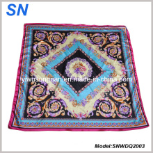 2015 Stock High Quality Satin Paisley Square Scarf