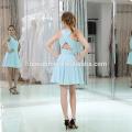 Мода светло-голубой короткий мексиканская вечернее платье для партии