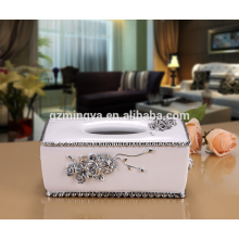Wholesale hot selling luxury tissue box for home decor tissue box