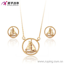 63734 xuping new design latest gold jewelry 18k delicate muslim style metal jewelry sets