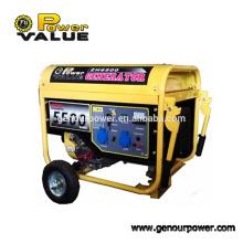 China 5KW barato silencioso 220 volts portátil gerador