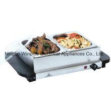 2 panela aço inoxidável Buffet Server e bandeja de aquecimento