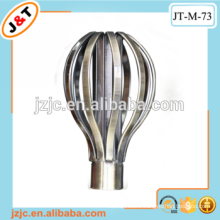 high quality fancy Stirrer flat curtain rod with iron finial