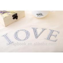 Letras adhesivas personalizadas pegatinas pegatinas 2016 moda Navidad alibaba china surtidor del teléfono