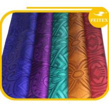 Popular Shaoxing proveedor jacquard algodón brocado tela nigeriana diseño caliente