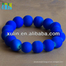 wholesale DIY loose bright navy fluorescent color acrylic round beads