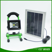 High Quality portable 10W Light Control Solar LED Floodlight with Solar Powered Panel