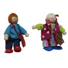 Brinquedo feliz da figura da madeira da série da família para miúdos