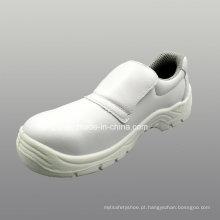Calçados de segurança PU couro Artificial de microfibra com malha forro (HQ05023)