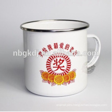 enamel disposable coffee cups with SS rim