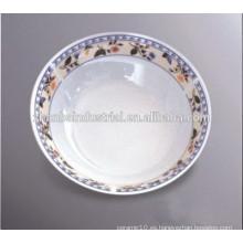 Tazón de fuente al por mayor de la porcelana de la seguridad de los alimentos con la ondulación del color para el uso casero