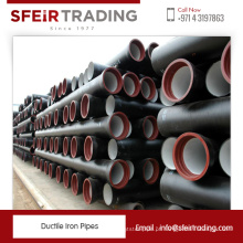 Fabricante de tubos de ferro padrão Ductile ISO2531 BS EN545 e 598