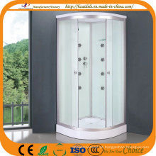 Banheiro de vidro branco de baixa bandeja (ADL-8701)