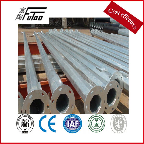 11 Meters Galvanized Outdoor Pole For Lighting