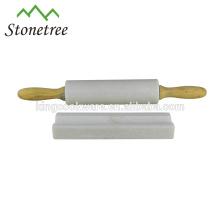 Vente chaude haute qualité granit / marbre pierre à pâtisserie avec manche en bois
