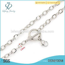 Latest design jewelry couple silver chains,prices lettering gold chains