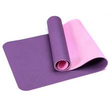 Custom tpe non-toxic non-slip durable Yoga Mat durable/latex-free non-skid exercise fitness green