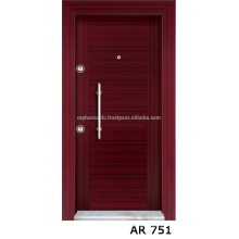 Günstige Preis Luxus-Ansicht Industrial Mahagoni Veneer Coated Exterior Stell Door