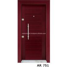 Cheap Price Luxury View Industrial Mahogany Veneer Coated Exterior Stell Door