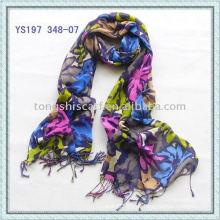 Muti-farbige Viskose-Schals / gedruckte Schals