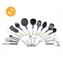 11pcs LFGB western Nylon Kitchen Tool Set with Non-slip Handle